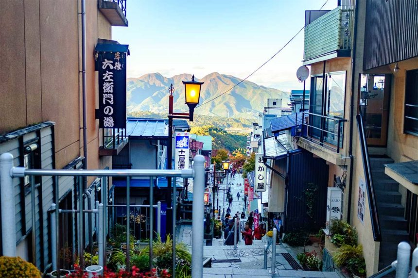 伊香保石段街からの景色