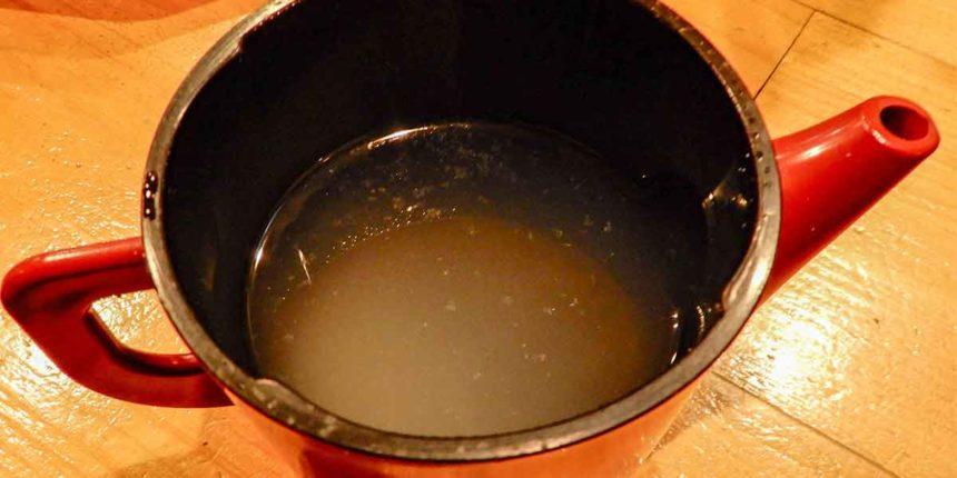 雅紀屋の蕎麦湯