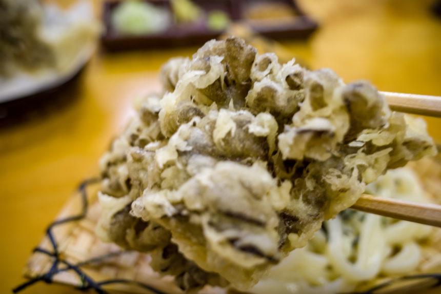 大澤屋の舞茸の天ぷら