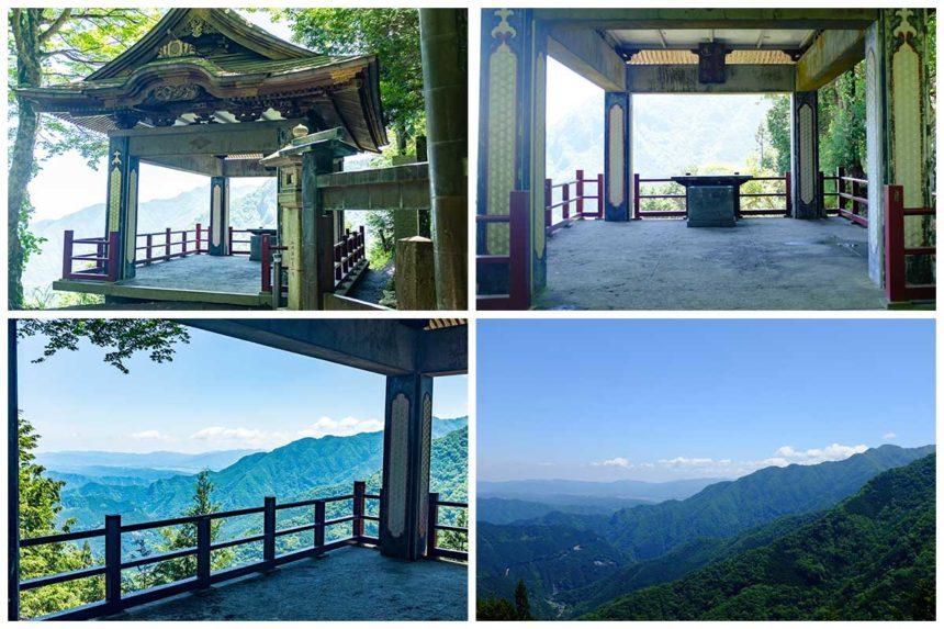 三峯神社の遥拝殿からの景色