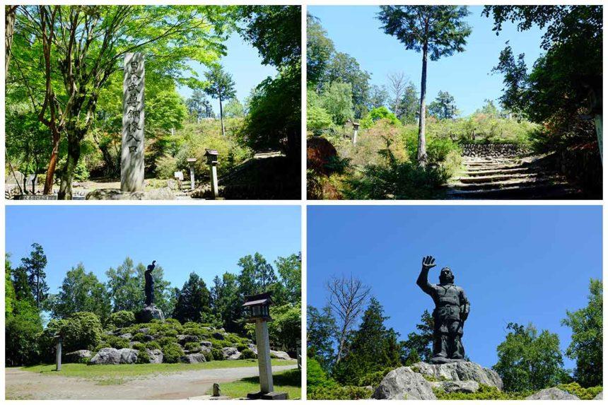 三峯神社の日本武尊銅像