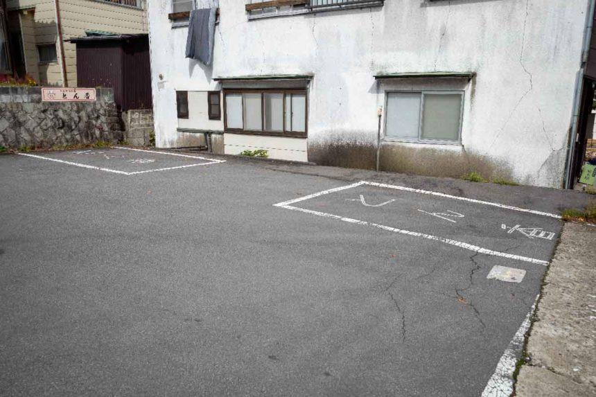 とんかつの店「とん香」の駐車場