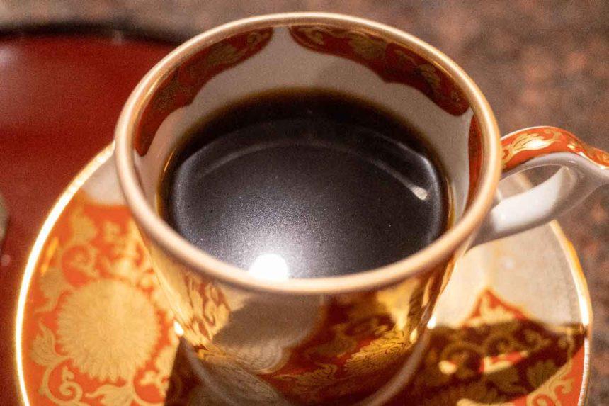 草津温泉「喫茶去」の花豆コーヒー